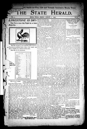 Primary view of object titled 'The State Herald (Mexia, Tex.), Vol. 3, No. 30, Ed. 1 Friday, August 1, 1902'.