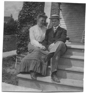 Primary view of object titled '[Caroline McGuire Street and Thomas McGee Scott on his graduation day from Princeton]'.