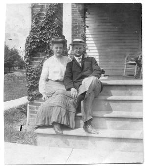 [Caroline McGuire Street and Thomas McGee Scott on his graduation day from Princeton]