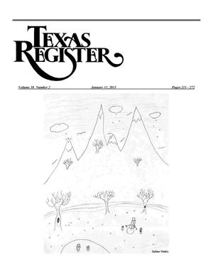 Primary view of object titled 'Texas Register, Volume 38, Number 2, Pages 211-272, January 11, 2013'.
