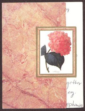 Primary view of object titled '[Greeting Card from Stephanie to Sterling Houston - April 15, 1999]'.