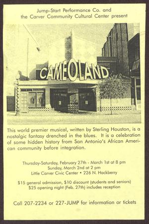 Primary view of object titled '[Cameoland Flyer]'.