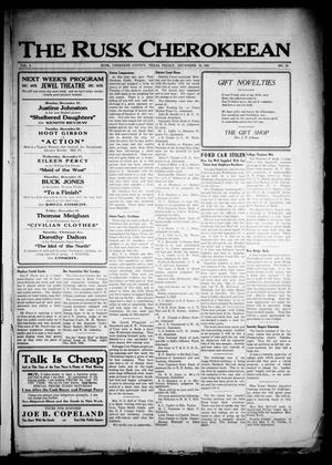 The Rusk Cherokeean (Rusk, Tex.), Vol. 3, No. 24, Ed. 1 Friday, December 16, 1921