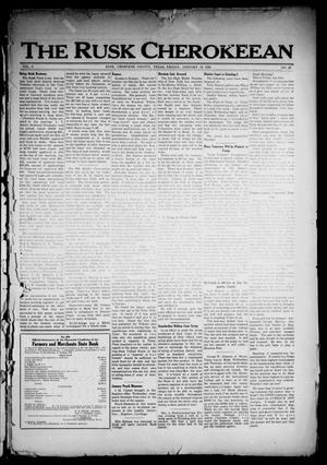Primary view of object titled 'The Rusk Cherokeean (Rusk, Tex.), Vol. 3, No. 28, Ed. 1 Friday, January 13, 1922'.