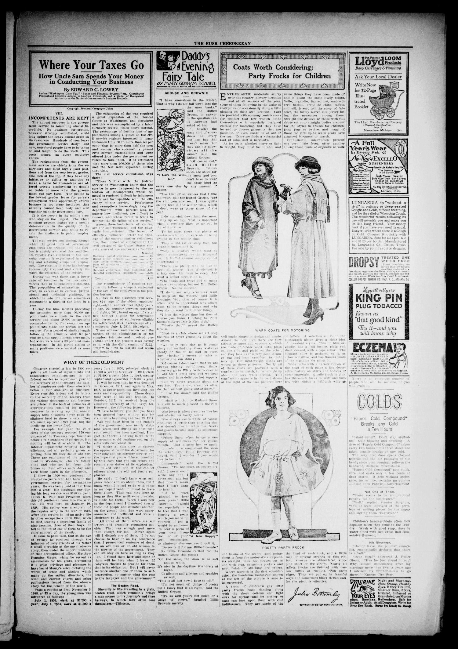 The Rusk Cherokeean (Rusk, Tex.), Vol. 3, No. 30, Ed. 1 Friday, January 27, 1922                                                                                                      [Sequence #]: 3 of 8