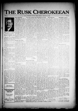 The Rusk Cherokeean (Rusk, Tex.), Vol. 3, No. 33, Ed. 1 Friday, February 17, 1922