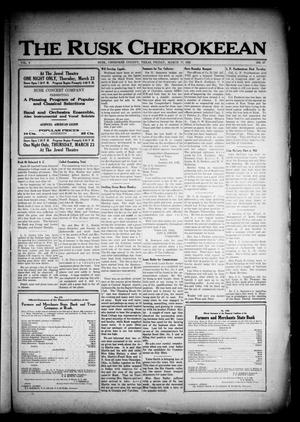 The Rusk Cherokeean (Rusk, Tex.), Vol. 3, No. 37, Ed. 1 Friday, March 17, 1922