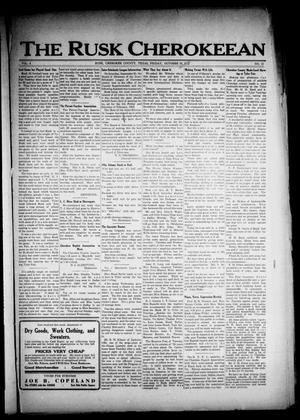 The Rusk Cherokeean (Rusk, Tex.), Vol. 4, No. 15, Ed. 1 Friday, October 13, 1922