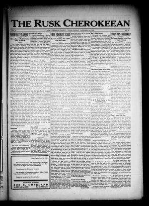The Rusk Cherokeean (Rusk, Tex.), Vol. 4, No. 21, Ed. 1 Friday, November 24, 1922
