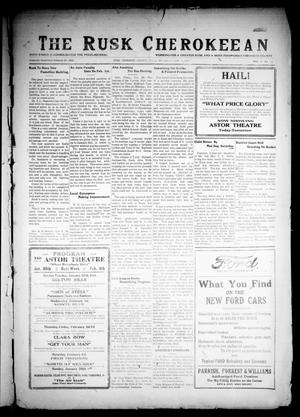 Primary view of The Rusk Cherokeean (Rusk, Tex.), Vol. 9, No. 33, Ed. 1 Thursday, January 26, 1928
