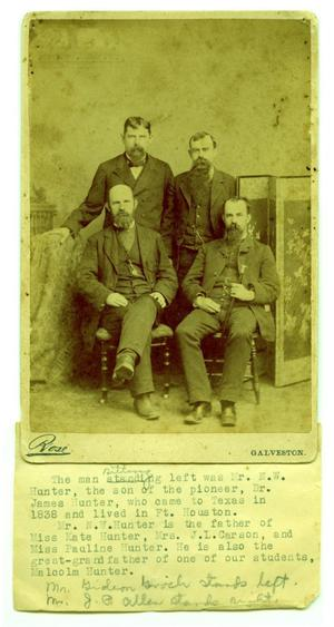 Primary view of object titled '[Gideon Gooch, J.P. Allen, N.W. Hunter and an Unidentified Man]'.