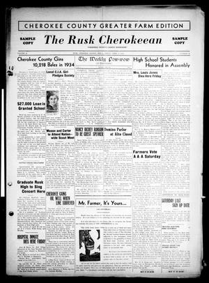 Primary view of object titled 'The Rusk Cherokeean (Rusk, Tex.), Vol. 18, No. 38, Ed. 1 Friday, April 5, 1935'.
