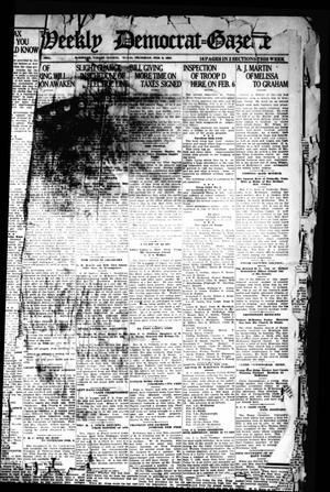 Primary view of object titled 'The Weekly Democrat-Gazette (McKinney, Tex.), Vol. 38, Ed. 1 Thursday, February 3, 1921'.