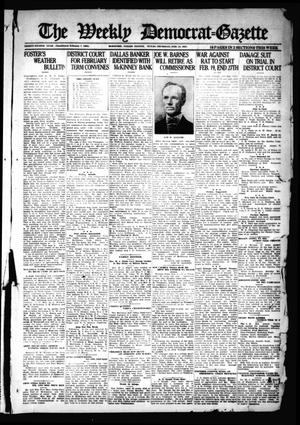 Primary view of object titled 'The Weekly Democrat-Gazette (McKinney, Tex.), Vol. 38, Ed. 1 Thursday, February 10, 1921'.