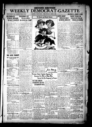 Primary view of object titled 'The Weekly Democrat-Gazette (McKinney, Tex.), Vol. 38, Ed. 1 Thursday, March 10, 1921'.
