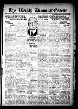 Primary view of object titled 'The Weekly Democrat-Gazette (McKinney, Tex.), Vol. 38, Ed. 1 Thursday, March 17, 1921'.