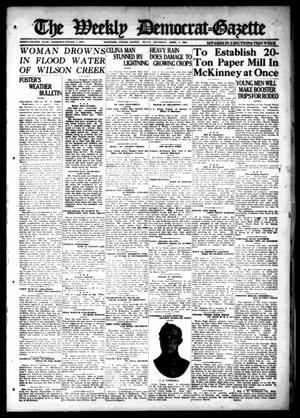 Primary view of object titled 'The Weekly Democrat-Gazette (McKinney, Tex.), Vol. 38, Ed. 1 Thursday, April 7, 1921'.