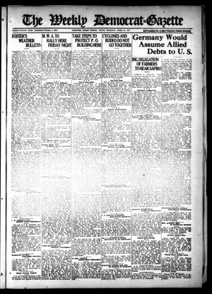 Primary view of object titled 'The Weekly Democrat-Gazette (McKinney, Tex.), Vol. 38, Ed. 1 Thursday, April 28, 1921'.