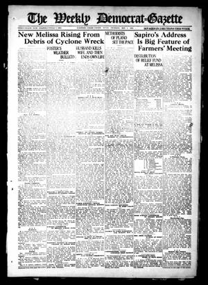 Primary view of object titled 'The Weekly Democrat-Gazette (McKinney, Tex.), Vol. 38, Ed. 1 Thursday, May 5, 1921'.