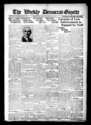 Primary view of object titled 'The Weekly Democrat-Gazette (McKinney, Tex.), Vol. 38, Ed. 1 Thursday, July 7, 1921'.