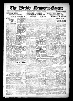 Primary view of object titled 'The Weekly Democrat-Gazette (McKinney, Tex.), Vol. 38, Ed. 1 Thursday, August 4, 1921'.