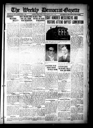 Primary view of object titled 'The Weekly Democrat-Gazette (McKinney, Tex.), Vol. 38, Ed. 1 Thursday, September 8, 1921'.