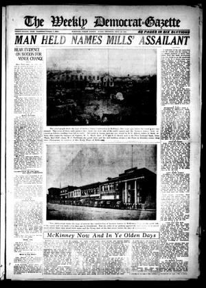 Primary view of object titled 'The Weekly Democrat-Gazette (McKinney, Tex.), Vol. 38, Ed. 1 Thursday, September 22, 1921'.