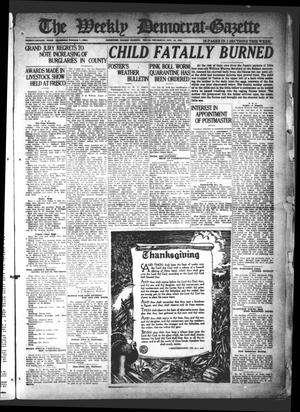 Primary view of object titled 'The Weekly Democrat-Gazette (McKinney, Tex.), Vol. 38, Ed. 1 Thursday, November 24, 1921'.