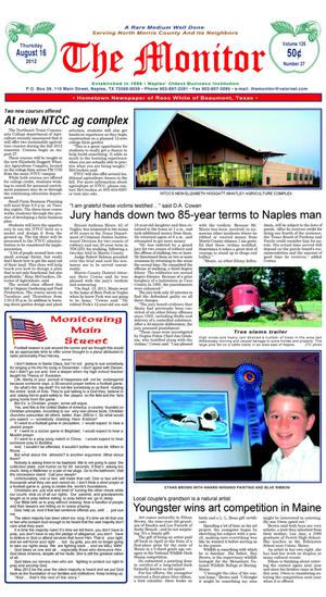 The Naples Monitor (Naples, Tex.), Vol. 126, No. 27, Ed. 1 Thursday, August 16, 2012