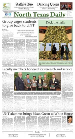 North Texas Daily (Denton, Tex.), Vol. 100, No. 37, Ed. 1 Wednesday, November 21, 2012