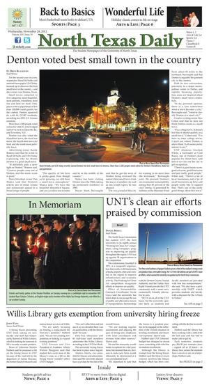 North Texas Daily (Denton, Tex.), Vol. 100, No. 39, Ed. 1 Wednesday, November 28, 2012