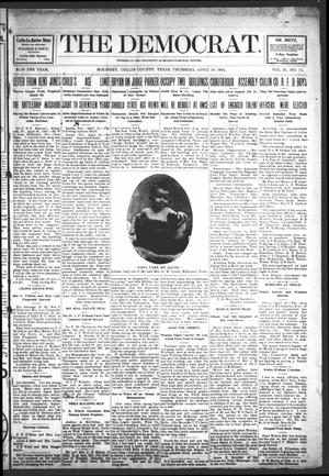 Primary view of object titled 'The Democrat (McKinney, Tex.), Vol. 21, No. 13, Ed. 1 Thursday, April 28, 1904'.