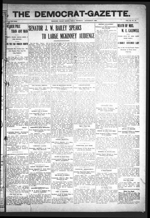 Primary view of object titled 'The Democrat-Gazette (McKinney, Tex.), Vol. 23, No. 40, Ed. 1 Thursday, November 8, 1906'.