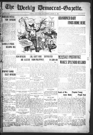 Primary view of object titled 'The Weekly Democrat-Gazette (McKinney, Tex.), Vol. 23, No. 49, Ed. 1 Thursday, January 10, 1907'.
