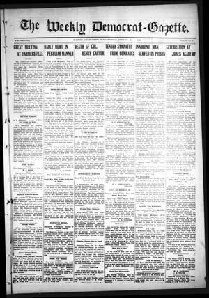 Primary view of object titled 'The Weekly Democrat-Gazette (McKinney, Tex.), Vol. 24, No. 4, Ed. 1 Thursday, February 28, 1907'.