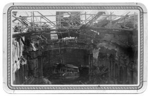 Primary view of object titled '[Burned Out Interior of the Texas Theater - Palestine]'.