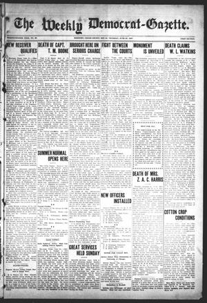 Primary view of object titled 'The Weekly Democrat-Gazette (McKinney, Tex.), Vol. 24, No. 20, Ed. 1 Thursday, June 27, 1907'.