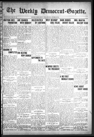Primary view of object titled 'The Weekly Democrat-Gazette (McKinney, Tex.), Vol. 24, No. 35, Ed. 1 Thursday, October 10, 1907'.