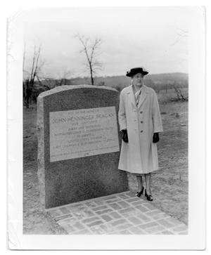 [Dedication of Marker at the Site of the John Henninger Reagan Home]