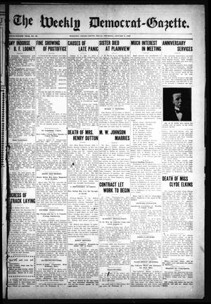 Primary view of object titled 'The Weekly Democrat-Gazette (McKinney, Tex.), Vol. 24, No. 48, Ed. 1 Thursday, January 9, 1908'.
