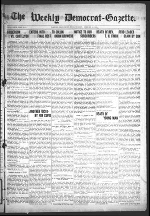 Primary view of object titled 'The Weekly Democrat-Gazette (McKinney, Tex.), Vol. 25, No. 2, Ed. 1 Thursday, February 13, 1908'.
