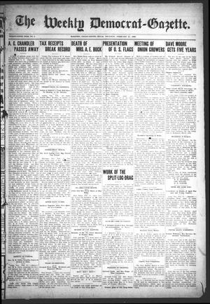 Primary view of object titled 'The Weekly Democrat-Gazette (McKinney, Tex.), Vol. 25, No. 4, Ed. 1 Thursday, February 27, 1908'.