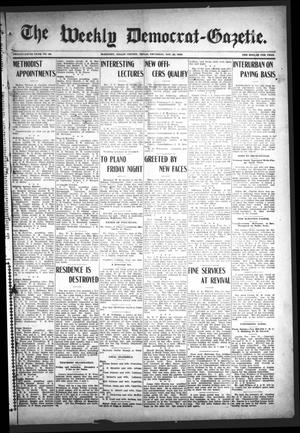 Primary view of object titled 'The Weekly Democrat-Gazette (McKinney, Tex.), Vol. 25, No. 43, Ed. 1 Thursday, November 26, 1908'.