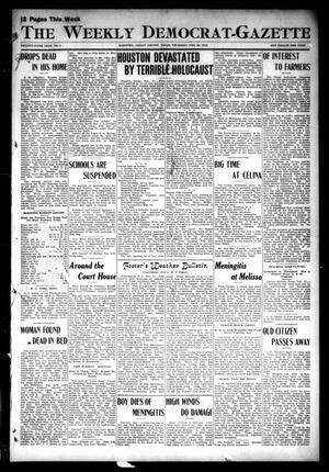 Primary view of object titled 'The Weekly Democrat-Gazette (McKinney, Tex.), Vol. 29, No. 4, Ed. 1 Thursday, February 22, 1912'.