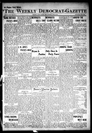 Primary view of object titled 'The Weekly Democrat-Gazette (McKinney, Tex.), Vol. 29, No. 5, Ed. 1 Thursday, February 29, 1912'.