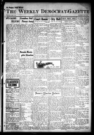 Primary view of object titled 'The Weekly Democrat-Gazette (McKinney, Tex.), Vol. 30, No. 8, Ed. 1 Thursday, March 21, 1912'.