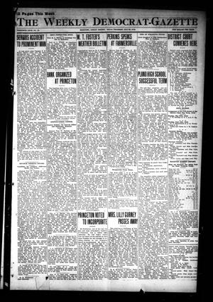 Primary view of object titled 'The Weekly Democrat-Gazette (McKinney, Tex.), Vol. 30, No. 16, Ed. 1 Thursday, May 23, 1912'.