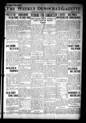 Primary view of object titled 'The Weekly Democrat-Gazette (McKinney, Tex.), Vol. 30, No. 23, Ed. 1 Thursday, July 11, 1912'.