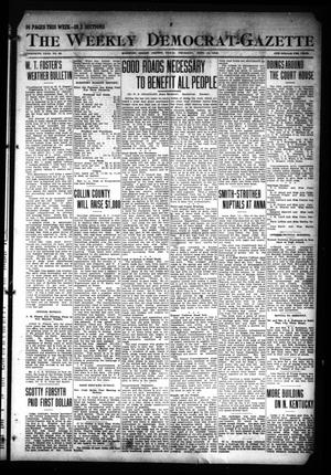 Primary view of object titled 'The Weekly Democrat-Gazette (McKinney, Tex.), Vol. 30, No. 33, Ed. 1 Thursday, September 19, 1912'.