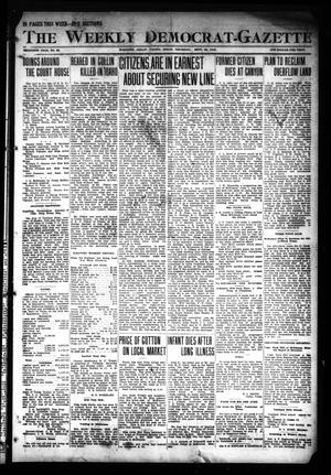 Primary view of object titled 'The Weekly Democrat-Gazette (McKinney, Tex.), Vol. 30, No. 34, Ed. 1 Thursday, September 26, 1912'.